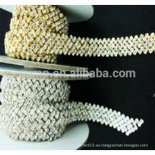 Ropa de cristal decoración rhinestone copa cadena adornos