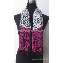 Bufanda tejida impresa del rayo de la manera del leopardo