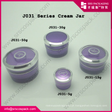 China 5ml 15ml 30ml 50ml Cone Roxo Forma Acrílico Frasco Plástico Frascos De Amostra De Plástico