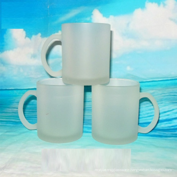 11oz blank frosted glass mug for beer,juice,tea,coffee ect.