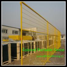 China fertigen beste Preis-PVC-Pulverbeschichtung farbige tragbare Metallzaunplatte