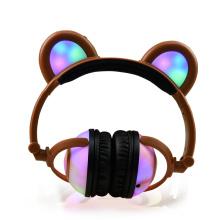 Auriculares que brillan intensamente auriculares inalámbricos de la música del oído de Panda