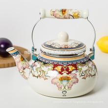 Chaleira da água do chá do esmalte da alta qualidade 2.3L com punho da baquelite
