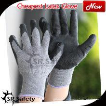 SRSAFETY 10 калибровочных лакокрасочных покрытий с лакокрасочным покрытием латунь, покрытие из сморщенной кожи / латексные рабочие перчатки / серые латексные рабочие перчатки