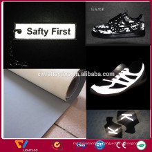Reflective PU Fabric/ reflective PU Leather Fabric/ reflective PU Leather for Clothes and shoes