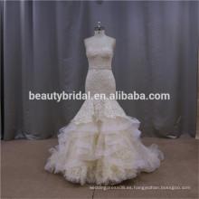 Vestido de boda exquisito del amor del vestido de bola del nuevo trabajo hecho a mano