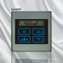 4-Pipe Air-Conditioner Thermostat Touch Switch in Plastic Frame (SK-AC2300B-4P)