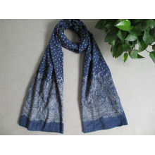 Printed long 100% cotton scarf sale