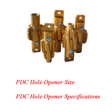 PDC Hole Opener Size Specifications