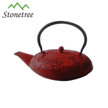 Hot Sale Wholesale Red Teapot Cast Iron Enamel Tea Kettle