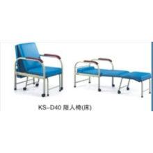 Chaise de couchage à l'hôpital en acier