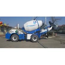 Portable mini used concrete mixer truck with pump