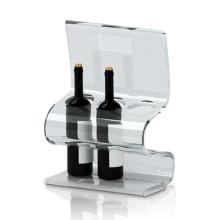 Transparente Acryl POS Display Ständer für Weinlagerung