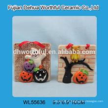 Decorações de suspensão cerâmicas do Dia das Bruxas com projeto do ghost / abóbora / coruja