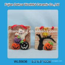 Керамические украшения для Хэллоуина, украшенные призрак / тыква / сова
