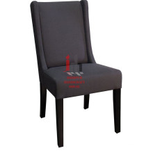 Dark Fabric Cushioned Dining Chair