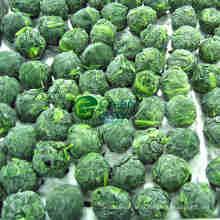 IQF congelée boules d'épinards avec la norme FDA