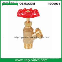Válvula de drenaje de la caldera de cobre amarillo hembra forjada V (AV4043)