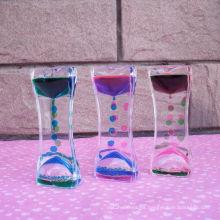 Acrylic Colorful Liquid Motion Hourglass (MQ-ACH01)