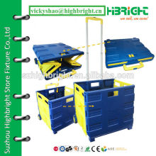 cosmetic promotion gift foldable shopping plastic cart