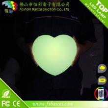 Coração em forma de luzes de decoração LED para casamento