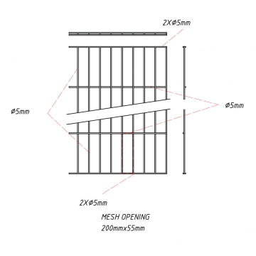 Single Wire Panel Fence RAL6005 / RAL7016 / RAL9005