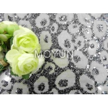 """POLY MESH WITH 7MM SEQUIN EMBROIDERY 50 52"""""""
