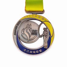 Massa de medalha de esmalte macio de liga de zinco personalizada