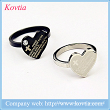 Кольцо для мужчин с кольцами библейского креста и титановым кольцом