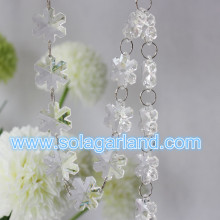 New Product 2016 Acrylic Crystal Snowflake Bead Garland Home Party Decoration