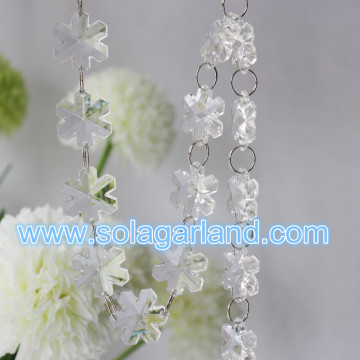 Neue Produkt 2016 Acryl Crystal Snowflake Bead Garland Home Party Dekoration