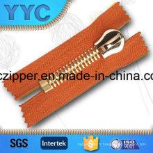 Heavy Duty Rose Gold Metal Zipper 15 # pour vestes