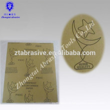 9''*11'' Moon-star Brand Electro Coated silicon carbide Abrasive Wet and Dry paper waterproof sandpaper for polishing