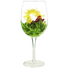 Xian Nv San Hua Melody Ball Verde Blooming Tea Flower