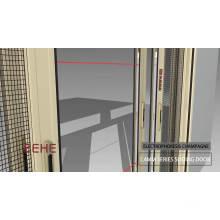 Modèles de porte en verre aluminium garde-robe de salon / porte coulissante en profilé d'aluminium