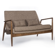Fabric Upholstery Wood Frame Restaurant Booth Sofa Seating