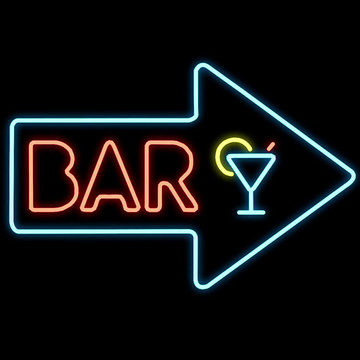 ARROW LIGHTED NEON SIGN