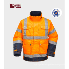 Cheap high visibility workwear quilted safety reflequilted safety ctive jacket