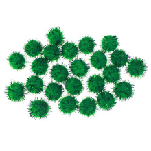 Couleurs vertes, assortiment pompom glitter