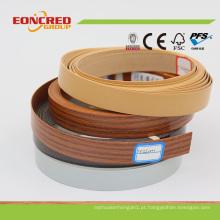 Borda de borda diferente dos tipos feita através do PVC
