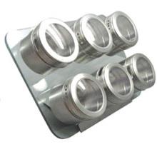 Especiero magnético de acero inoxidable (CL1Z-J0604-6F)