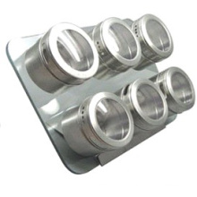 Stainles Steel Magnetic Spice Rack (CL1Z-J0604-6F)