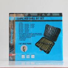 230 PCS 118° High Speed Steel Drill Bits Set