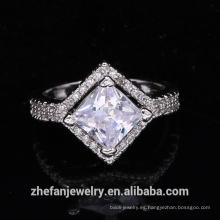 suministros de joyería al por mayor accesorios de boda de china anillo de forma cuadrada