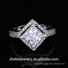 wholesale jewelry supplies china wedding accessories square shape ring