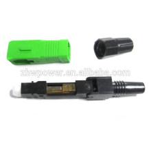 SC Connecteur rapide fibre optique APC, connecteur rapide à fibre optique