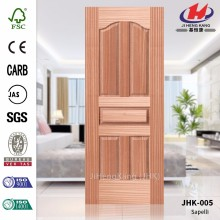 JHK-005 Gate Good Quality Fashion Natural Sapele Interior Made In China Door Skin   Quality Assured