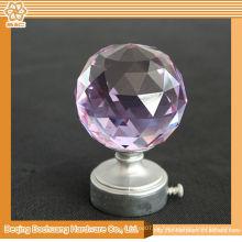 8/10/13/16/19/22/25 / 28mm Kristallglas Dekoratives Fenster Kristall Vorhang Finial Pink