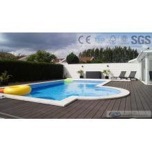 125 * 23mm WPC Outdoor Composite Decking mit SGS, Fsc, CE Zertifikat