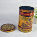 El envase redondo del paquete de la hojalata de la impresión de encargo para el estaño del té de la caja del metal del envase del té puede